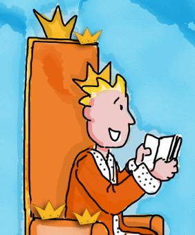 Voorlees koning